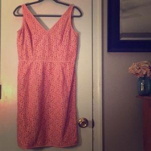 Pink Ann Taylor 10P Dress w Ribbon Detail